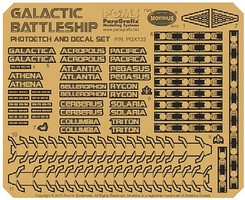 Paragraphix 1/4105 Battlestar Galactica- BS75 Spaceship Super Photo-Etch & Decal Set for MOE