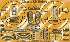 Paragraphix 1/12 Forbidden Planet- Robby the Robot Photo-Etch Set for PLL