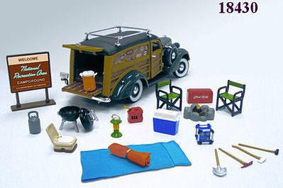 Happy Camper Accessory Set Diecast Model Car Parts Vehicle