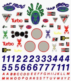 Pine Car Pinewood Derby Sponsor & Number Decal -- Pinewood Derby Decal and Finishing -- #p306