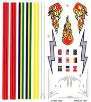 Pine-Car Pinewood Derby Stripe & Flame Decal Pinewood Derby Decal and Finishing #p307