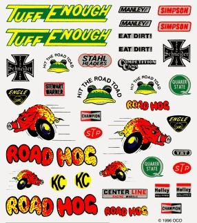 Pine Car Pinewood Derby Off-Road Dry Transfer Decals -- Pinewood Derby Decal and Finishing -- #p315