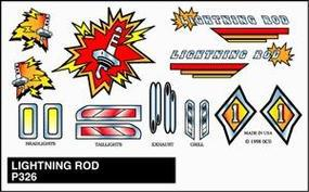 Pine-Car Pinewood Derby Lightning Rod Stick-On Decal Pinewood Derby Decal and Finishing #p326