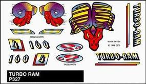 Pine-Car Pinewood Derby Turbo Ram Stick-On Decal Pinewood Derby Decal and Finishing #p327