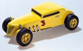 Pine-Car Pinewood Derby Bandit Coupe Deluxe Pinewood Derby Car #p374