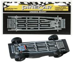 Pine-Car Pinewood Derby 4 Wheel Drive Chassis Weight Pinewood Derby Car Weight #p3910