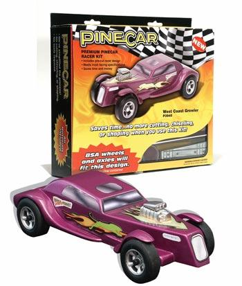 Pine Car Pinewood Derby West Coast Growler Racer -- Pinewood Derby Car -- #p3949