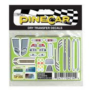 Pine-Car Pinewood Derby Racer Accents Dry Transfer Pinewood Derby Decal and Finishing #p4014