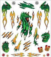 Pine-Car Flaming Dragon Dry Transfer Pinewood Derby Decal and Finishing #p4018