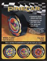 Pine-Car Pine Car Dry Transfer Wheel Flare Fire Ball Pinewood Derby Decal and Finishing #p4065
