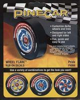 Pine-Car Pride Wheel Flare 4x2-1/2 Pinewood Derby Decal and Finishing #p4066