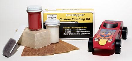 Pine Car Pinewood Derby Finishing Kit Competition Red -- Pinewood Derby Car -- #p409