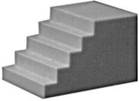 Pike-Stuff Concrete Staircase (3) HO Scale Model Railroad Scratch Supply #1010