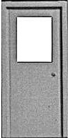 Pike-Stuff Window-Top Entry Door (3) HO Scale Model Railroad Scratch Supply #1103