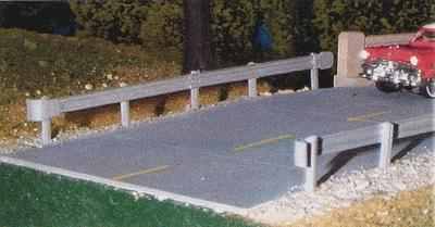 Pike Stuff Highway Guard Rail Kit (3) -- HO Scale Model Railroad Building Accessory -- #12