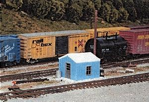 Pike Stuff Yard Office/Storage Kit -- HO Scale Model Railroad Building -- #5