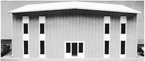 Pike-Stuff Modern 2-Story Office Building Kit HO Scale Model Railroad Building #5002