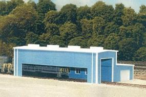 Pike-Stuff Atkinson Engine Facility 40 x 80 (blue) N Scale Model Railroad Building #8008