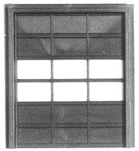 Pike Stuff 10' x 12' Overhead Door (2) -- HO Scale Model Railroad Building Accessory -- #st4