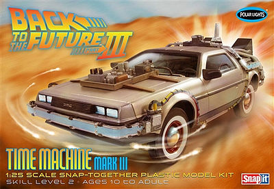 Polar Lights DeLorean Car Back to the Future III -- Plastic Model Car Kit -- 1/25 Scale -- #926