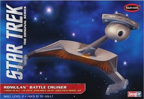 Polar-Lights Star Trek Romulan Battlecruiser Snap Tite Plastic Model 1/1000 Scale #pol897