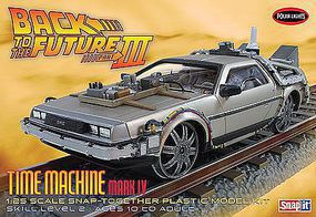 Polar-Lights Back Future III Final Act Time Machine Snap Plastic Model Car Kit 1/25 Scale #pol932-12