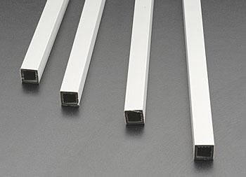 Plastruct Square Tube ABS 3/8 (4) -- Model Scratch Building Plastic Tubing -- #90205