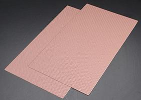 Plastruct Patterned Sheet-Brick .062 pkg(2) - N-Scale
