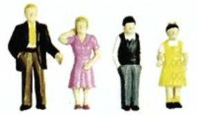 Plastruct Plastic Family Figures Painted (9) N Scale Model Railroad Figure #93358