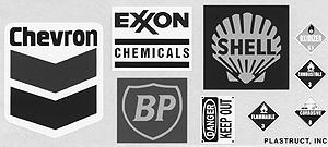 Plastruct Oil Company Decal Set -- HO Scale Model Railroad Decal -- #96052