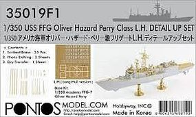 Pontos USS Oliver Hazard Perry Class Detail Set for ACY Plastic Model Ship Accessory 1/350 #350191