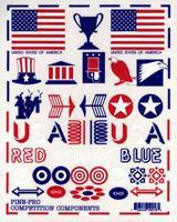 Pine-Pro Patriotic Decal Set Pinewood Derby Decal and Finishing #10018