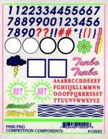 Pine-Pro Numbers & Letters Decal Pinewood Derby Decal and Finishing #10020