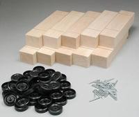 Pine-Pro Block Kits Bulk (10) -- Pinewood Derby Car -- #10051
