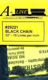 Proto Power West Black Chain 15 links per inch (12'')