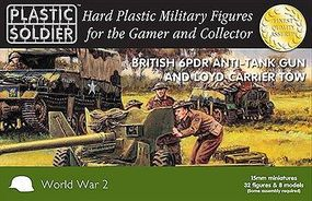 Plastic-Soldier WWII British 6pdr Anti-Tank Gun and Loyd Carrier Tow Plastic Model Military Kit 15mm #1533