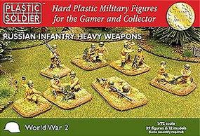 Plastic-Soldier WWII Russian Infantry (39) w/Heavy Weapons Plastic Model Military Figure 1/72 Scale #7205