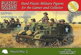Plastic-Soldier WWII British Universal Carrier (3) & Crew (12) Plastic Model Personnel Carrier 1/72 #7213