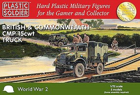 Plastic-Soldier WWII British & Commonwealth CMP 15cwt Trucks (3) Plastic Model Military Kit 1/72 #7237