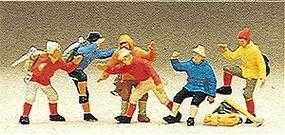 Preiser Mountain Climbers (6) Model Railroad Figures HO Scale #10190