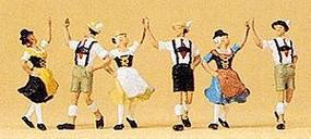 Preiser Folk Dancers Ring Around Dance Group (3) Model Railroad Figures HO Scale #10241