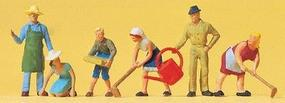 Preiser Working People Working in the Garden (6) Model Railroad Figures HO Scale #14081