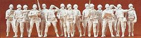 Preiser Modern US Unpainted Standing Infantry (16) Model Railroad Figures HO Scale #16529