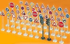 Preiser Sign Assortment HO Scale Model Railroad Billboard Sign #18203
