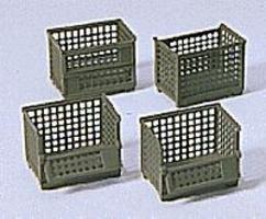 Preiser Military Steel Storage Baskets Model Railroad Building Accessory HO Scale #18363