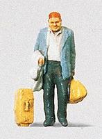 Preiser Traveler Standing with Bags (D) Model Railroad Figure HO Scale #28014