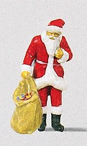 Preiser Kg Santa with Sack of Gifts -- Model Railroad Figure -- HO Scale -- #29027