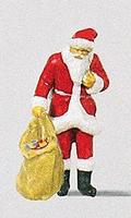 Preiser Santa with Sack of Gifts Model Railroad Figure HO Scale #29027
