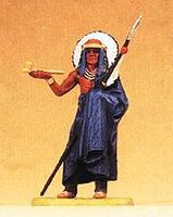 Preiser Indian Chief with Spear Offering Pipe Model Railroad Figure 1/25 Scale #54604