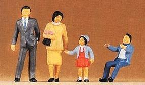 Preiser Japanese Family Model Railroad Figures O Scale #65301